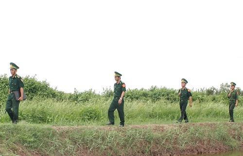 BĐBP Tiền Giang đang làm nhiệm vụ tuần tra