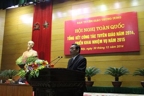 Đồng chí Lê Hồng Anh, Ủy viên Bộ Chính trị, Thường trực Ban Bí thư phát biểu chỉ đạo hội nghị