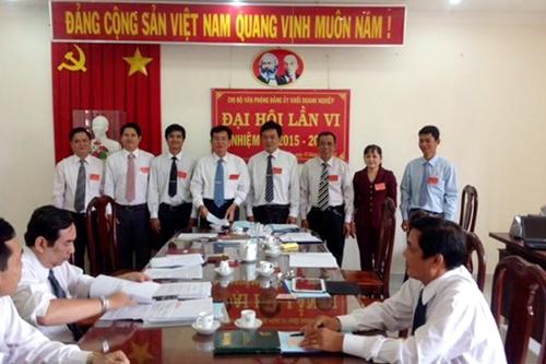 Chi ủy và đoàn đại biểu dự Đại hội Đảng bộ khối Doanh nghiệp ra mắt đại hội