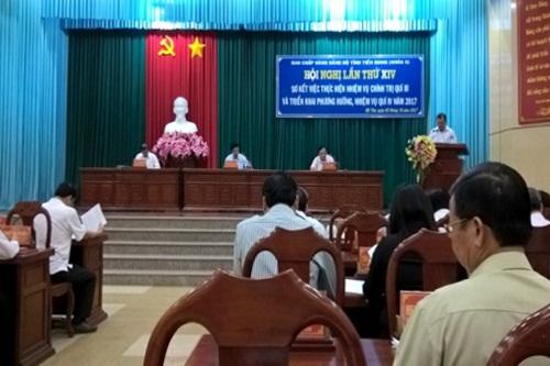 Hội nghị Tỉnh ủy sơ kết thực hiện nhiệm vụ chính trị quý III