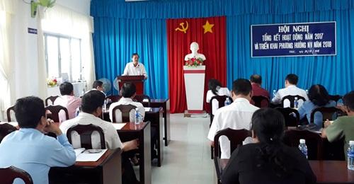 Đồng chí Nguyễn Văn Bằng - Trưởng Ban Tuyên giáo TXGC phát biểu chỉ đạo