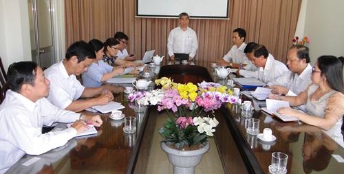 Bác sĩ CKII Trần Thanh Thảo, Giám đốc Sở Y tế phát biểu chỉ đạo