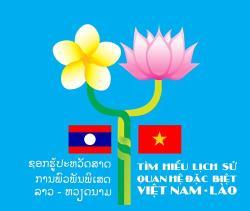 """Logo Cuộc thi """"Tìm hiểu lịch sử quan hệ đặc biệt Việt Nam - Lào, Lào - Việt Nam"""""""